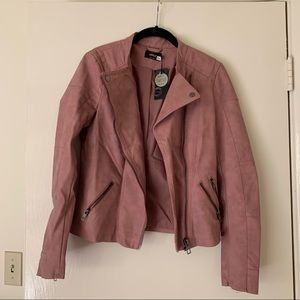 Pink Asos Leather Jacket